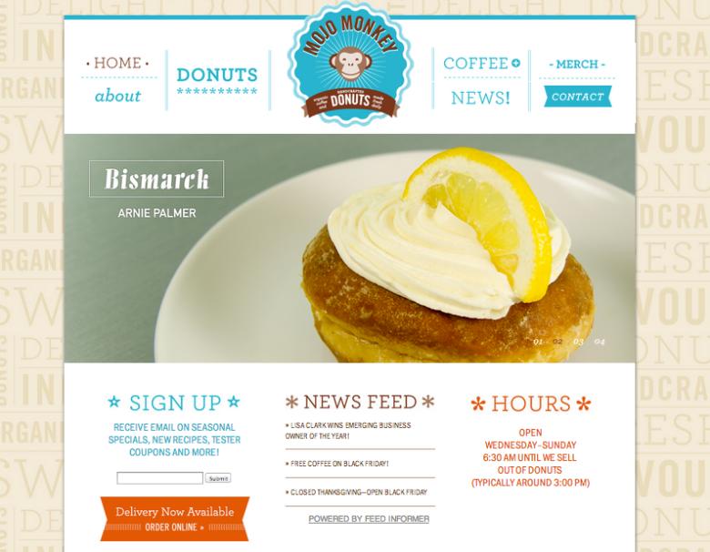 Mojo Monkey Donuts Homepage