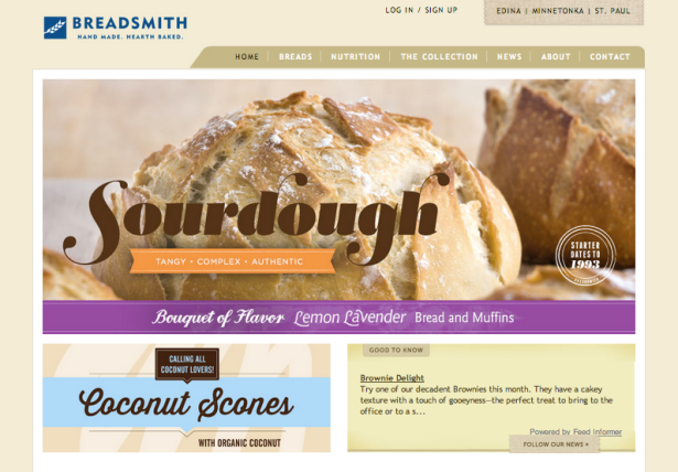 Breadsmith Spring Homepage