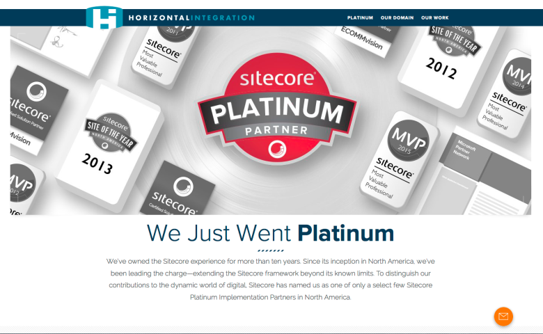 Sitecore Platinum Partner Single-page Site